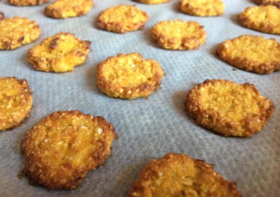 Biscoitos de aveia e abóbora