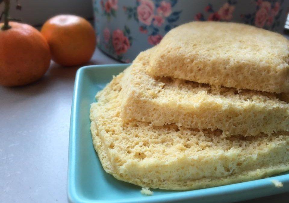 Pão no microondas