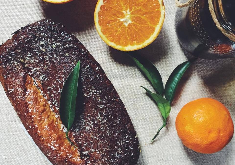 Bolo de laranja e coco