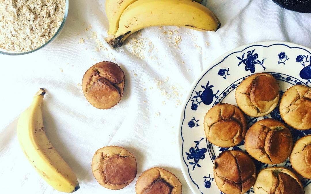 Queques de banana e aveia